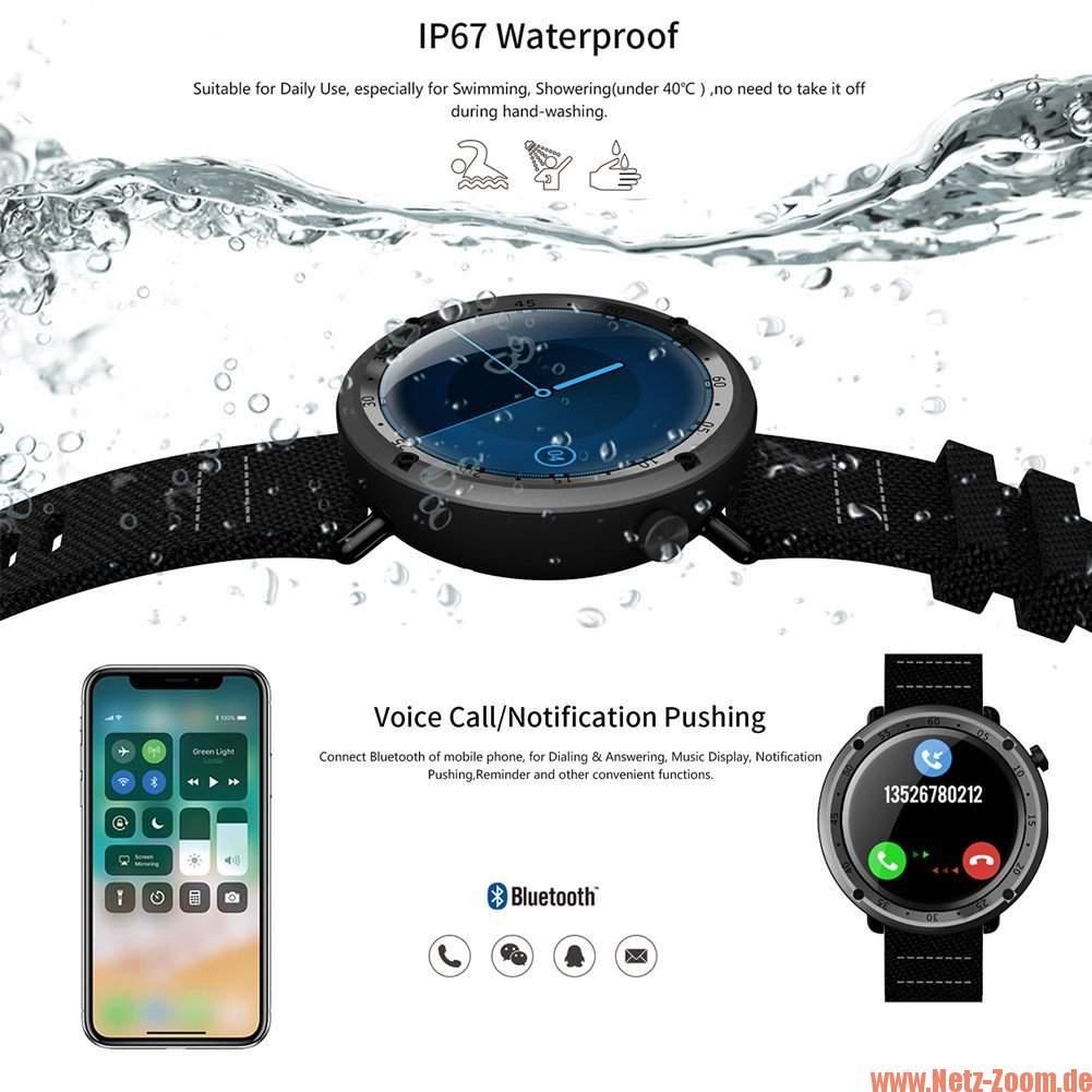 Lemfo LF22 Smartwatch Power Akku