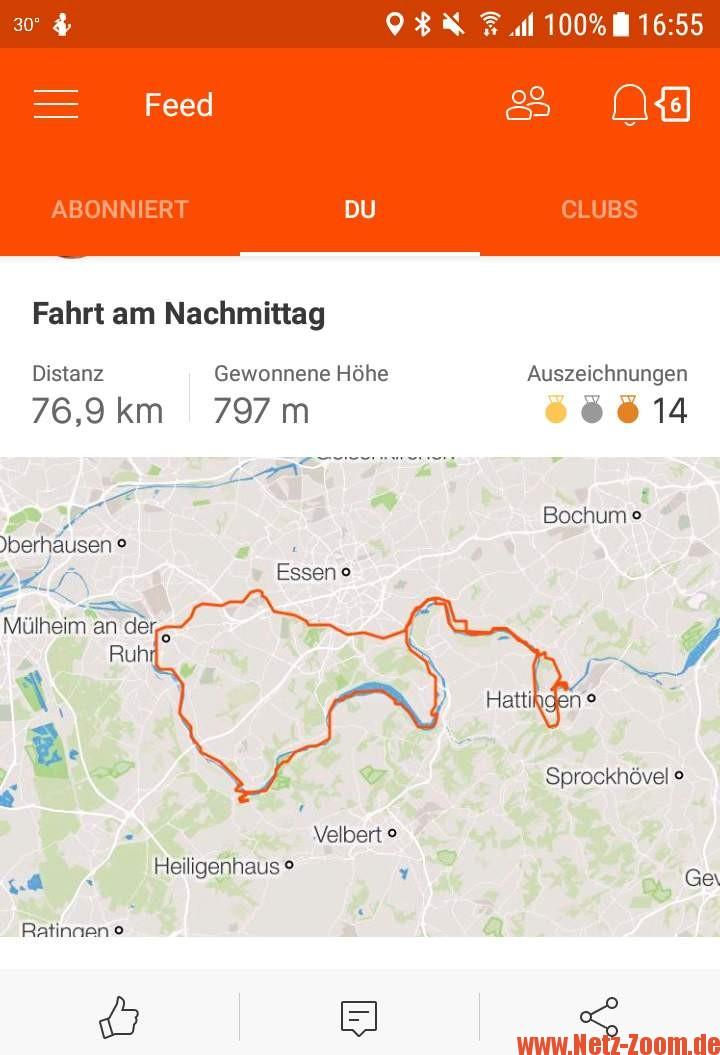der perfekte Bike-Tacho App zum tracken von Touren