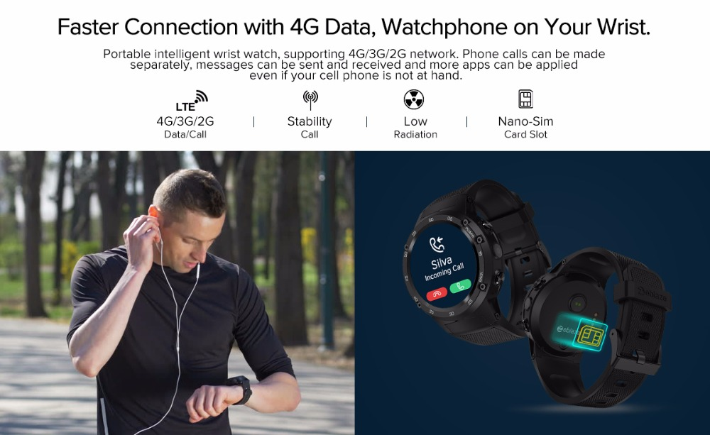 Zeblaze THOR 4 Smartwatch 4G data